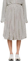 Sara Lanzi Off-White and Black Polka Dot Balloon Skirt
