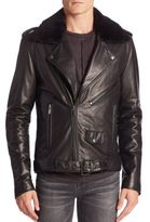 BLK DNM Leather & Fur Jacket