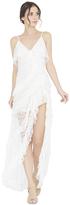 Alice + Olivia Laverne Spaghetti Starp Asymmetrical Gown