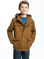 Old Navy Hooded Canvas Utility Jacket for Boys