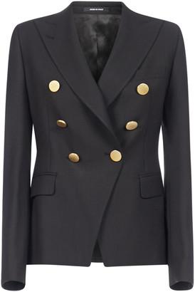 Tagliatore Alicya Double-breasted Wool-blend Blazer