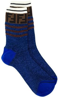 Fendi FF motif glitter socks