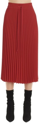 RED Valentino Pleated Waistband Midi Skirt