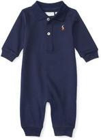 Ralph Lauren Childrenswear Pima Polo Coverall, Size 3-12 Months