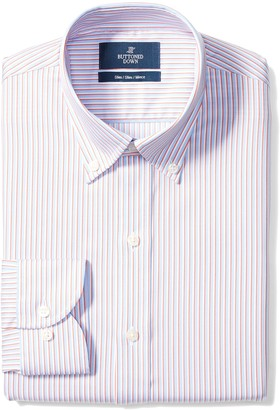 Buttoned Down Men's Slim Fit Spread-Collar Non-Iron Dress Shirt