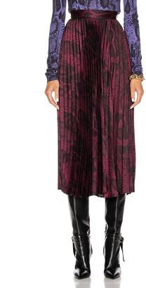 Andamane Becky Midi Skirt in Burgundy Snake | FWRD