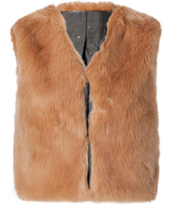 Paul & Joe Sister Faux Fur Vest in Old Rose