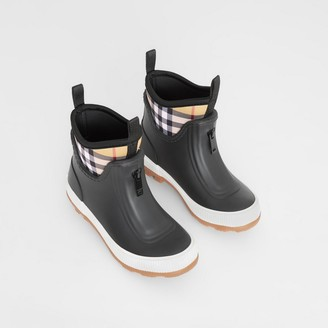 Burberry Childrens Vintage Check Neoprene and Rubber Rain Boots