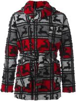 Engineered Garments shawl collar knitted coat - men - Polyester/Wool - M