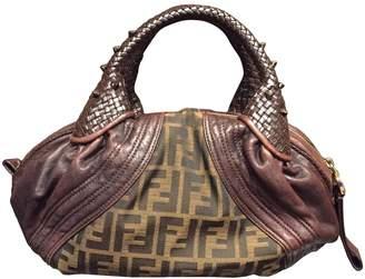 Fendi Spy Brown Cloth Handbags