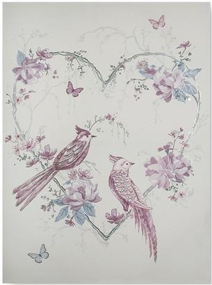 Graham & Brown Elegant Songbirds Canvas With Metallic & Glitter