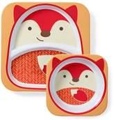 Skip Hop Zoo Melamine Plate & Bowl Set - Fox