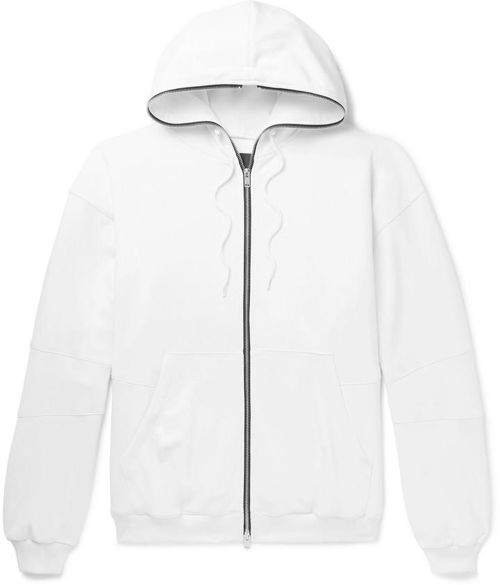 99% Is 99%Is 99%IS- - Tech-Jersey Zip-Up Hoodie - Men - White