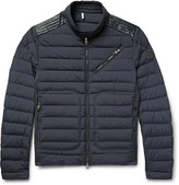 Moncler - Geant Leather-trimmed Quilted Stretch-shell Down Jacket