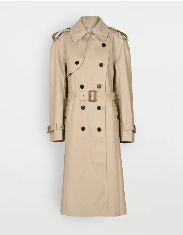 Maison Margiela Beige Long Trench Crafted By Mackintosh