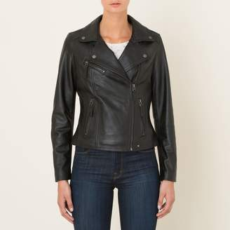 Oakwood Clip Leather Biker Jacket with Pockets