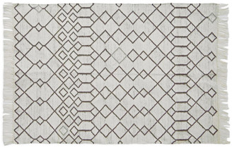 Camilla And Marc Weaver Green - Medina Tangier Rug - Made from Recycled Bottles - 150 x 90 cm | white | recycled plastic - White/White