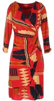 Rene Derhy Printed Wrapover Midi Dress
