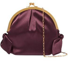 Nanushka Oana Knotted Satin Shoulder Bag