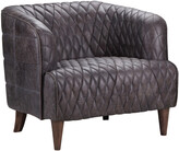 Moe's Home Collection Magdelan Tufted Leather Arm Chair Antique Ebony
