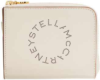 Stella McCartney Off-White Logo Card Holder