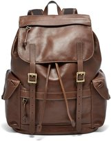 Fossil Defender Leather Rucksack with Laptop Sleeve