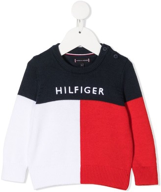 Tommy Hilfiger Junior Color-Block Knit Jumper