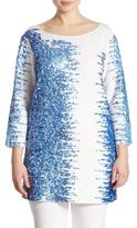 Joan Vass Sequined Pima Cotton Tunic