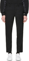 Tim Coppens Black Cropped Tailored Trousers
