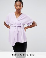 Asos Obi Band Wrap Blouse