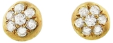 Ten Thousand Things Pavé Button Stud Earrings
