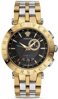 Versace V-Race GMT Round Watch, 46mm