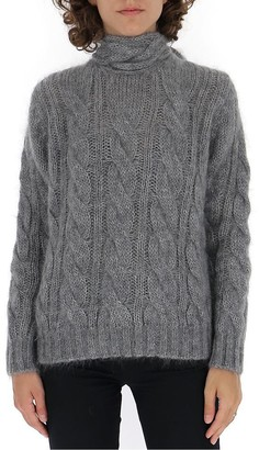 Prada Tie Neck Knitted Sweatshirt
