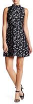 Kensie Floral Mock Neck Dress