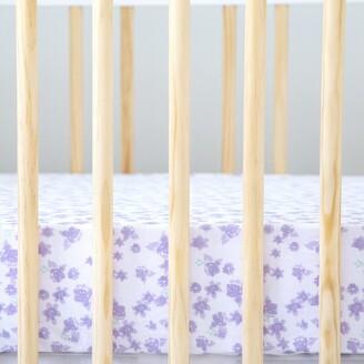Burt's Bees Watercolor Rose Garden Organic Cotton BEESNUG Fitted Crib Sheet