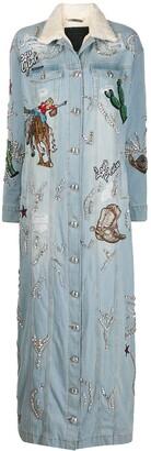 Philipp Plein Cowboy embellished coat