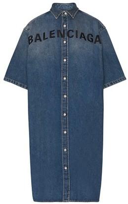 Balenciaga Short-sleeved denim dress
