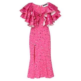 Rotate by Birger Christensen Carmen Splash-Print Dress