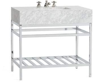Pottery Barn Clarence Apothecary Single Sink Vanity - Chrome