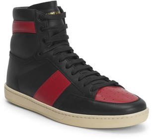 Saint Laurent Court Classic Leather High-Top Sneakers