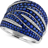 Effy Sapphire (2-1/3 ct. t.w.) and Diamond (1/5 ct. t.w.) Ring in 14k White Gold