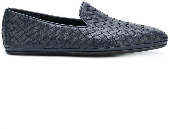 Bottega Veneta denim Intrecciato calf slipper