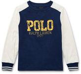 Ralph Lauren Two-Tone Logo Jersey T-Shirt, Size 2-4