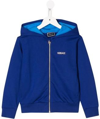 Versace Medusa logo zip-up hoodie