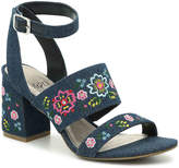Impo Varick Sandal -Blue Floral Embroidered Denim - Women's