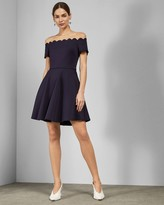 Ted Baker Bardot Scallop Skater Dress