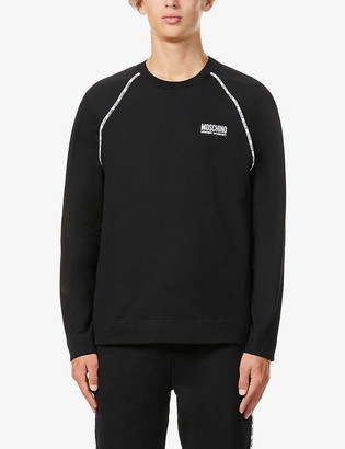 Moschino Brand-tape cotton-jersey jogging bottoms