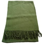 Alpakaandmore 100% Baby Alpaca Wool Woven Scarf, different colors