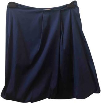 Prada Blue Cotton Skirt for Women