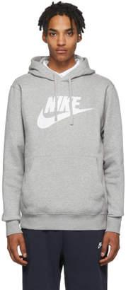 Nike Grey Fleece Sportswear Club Hoodie